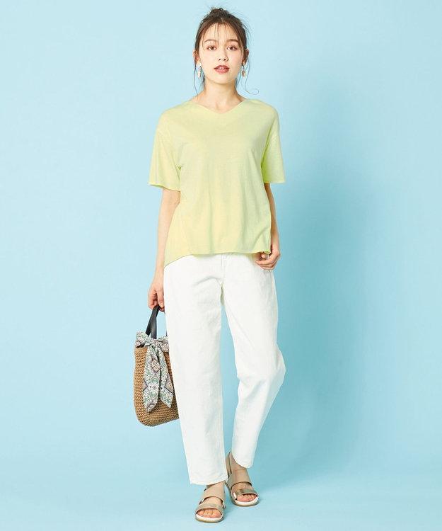 any SiS L 【汗ジミが目立ちにくい】サラコントロールジャージー  Aライン Tシャツ