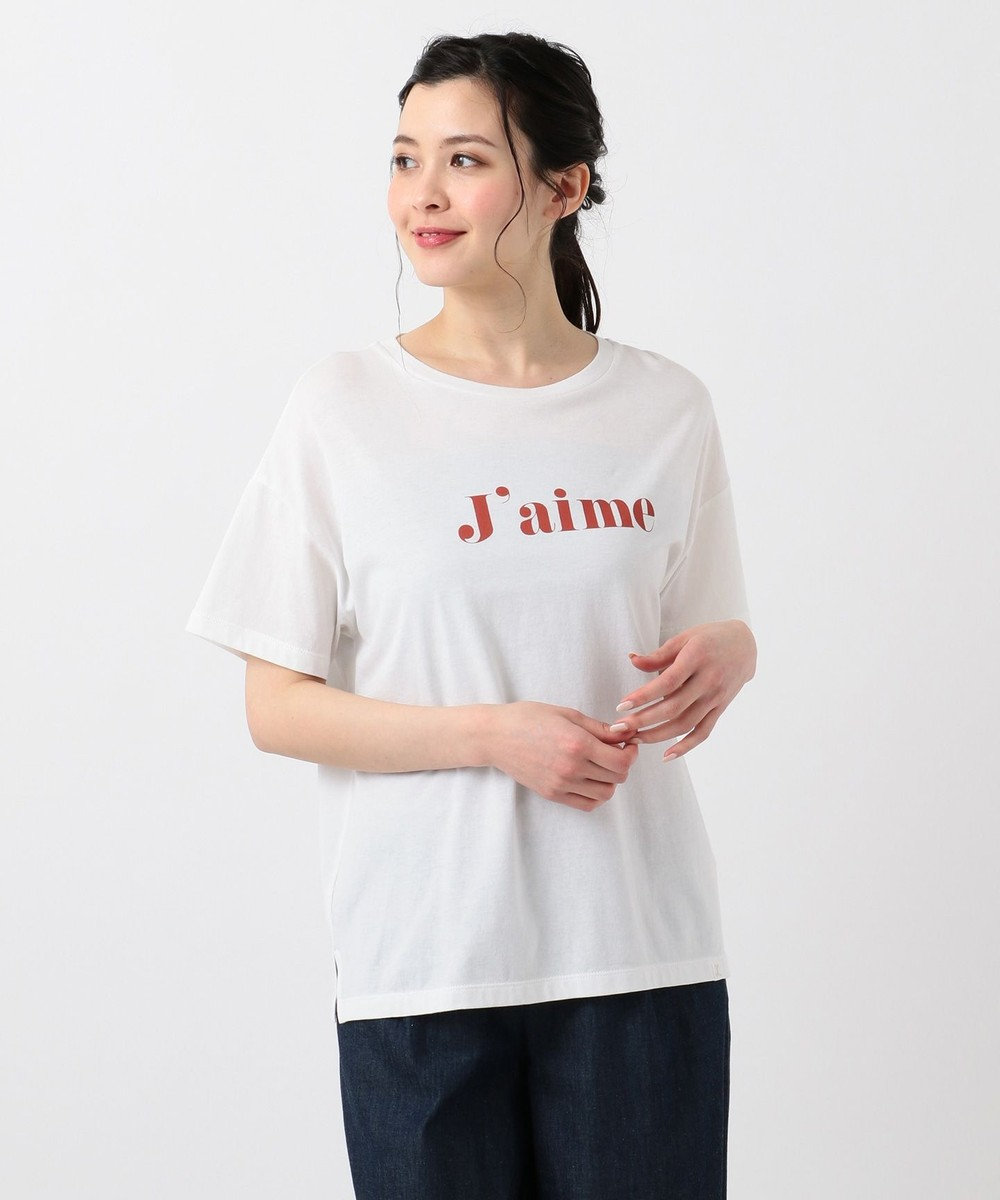 any SiS S 【L'aube】ロゴ Tシャツ オフ×カッパーレッド