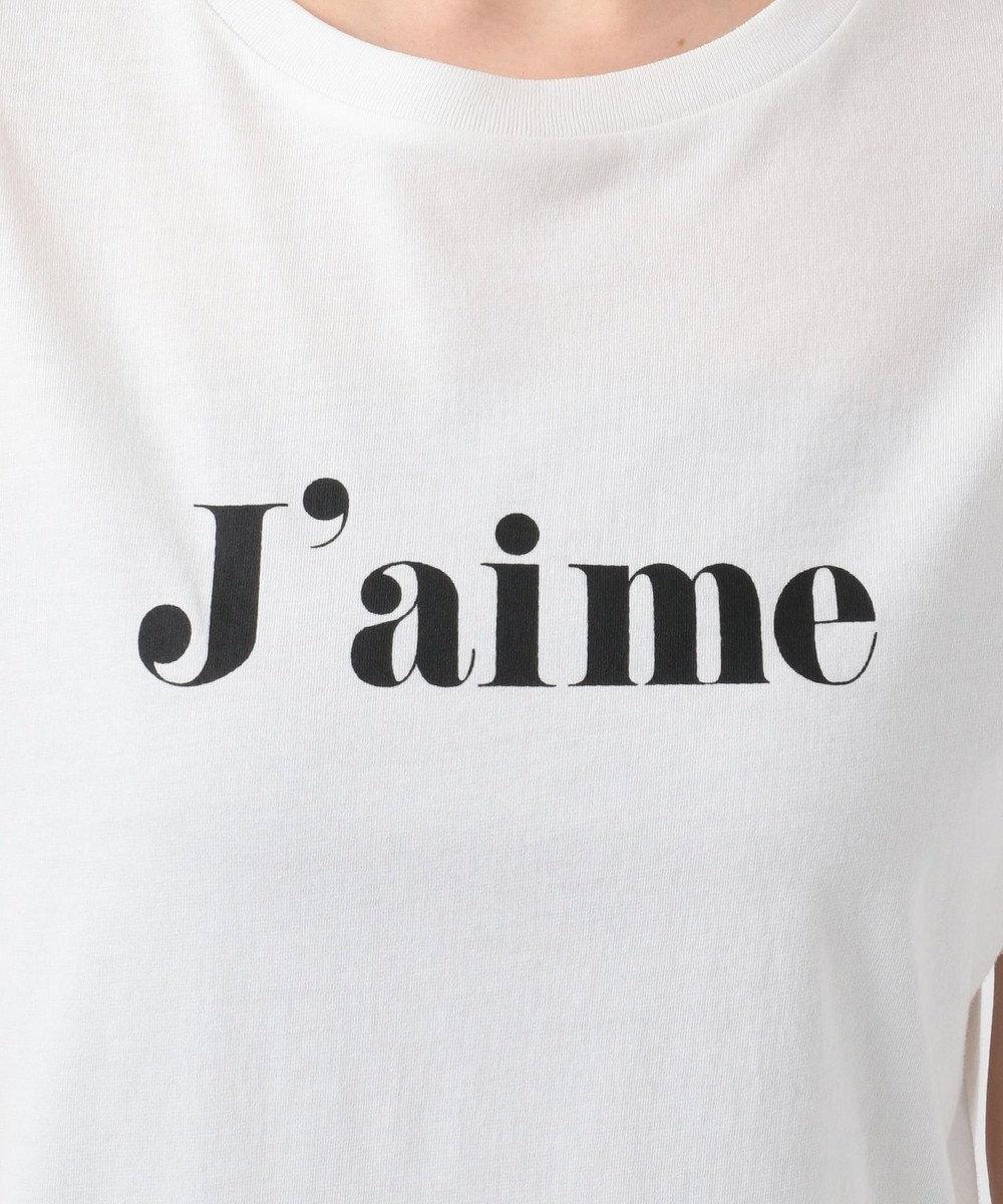 any SiS S 【L'aube】ロゴ Tシャツ オフホワイト×ブラック