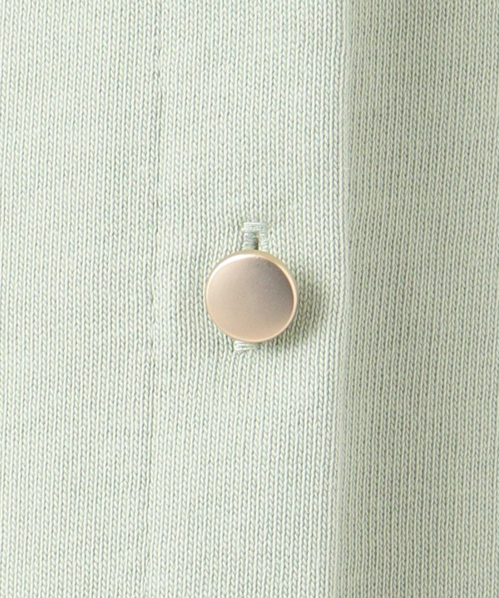 any SiS 【洗える】ボタンスリーブ カットソー スモーキーミント