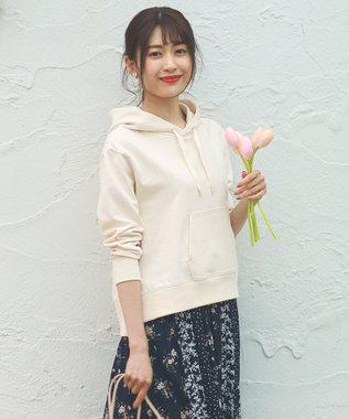 any SiS 【美人百花3月号掲載】スウェット パーカー アイボリー
