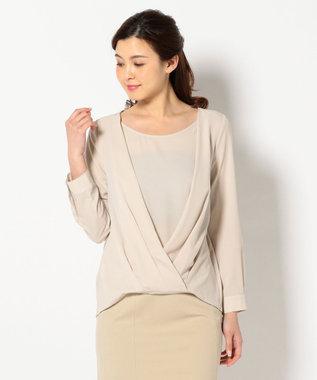 any SiS 【洗える】ジョーゼットカシュクール ブラウス ピンク系