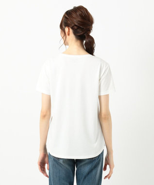 any SiS L 【UVケア&接触冷感】フォトプリント Tシャツ ホワイト系