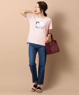 any SiS L 【UVケア&接触冷感】フォトプリント Tシャツ ピンク系