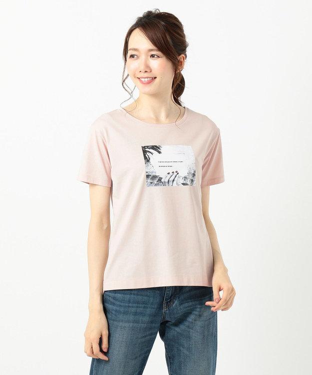 any SiS L 【UVケア&接触冷感】フォトプリント Tシャツ