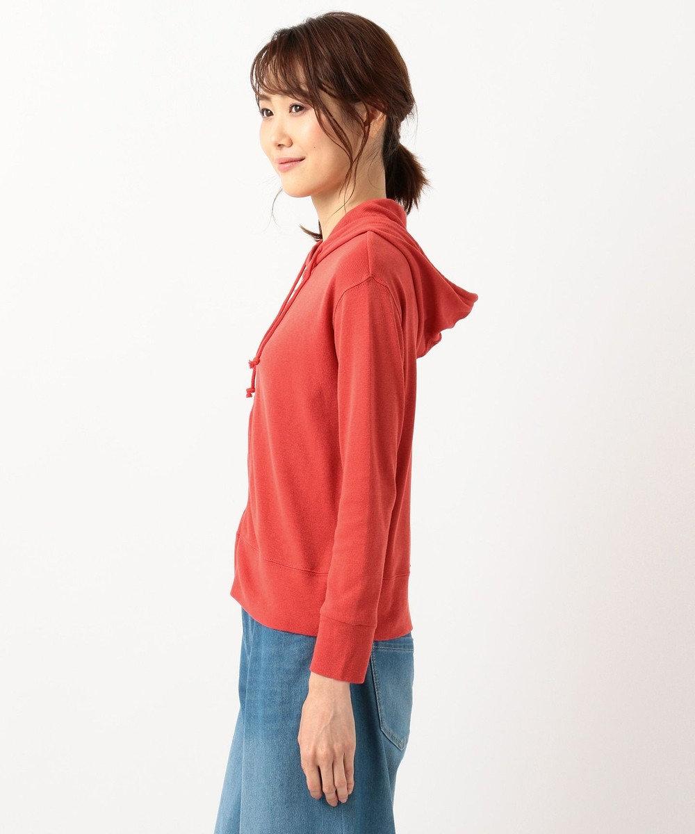any SiS S 【巾着ポーチ付き&UVケア】ガーゼフライス パーカー オレンジ系