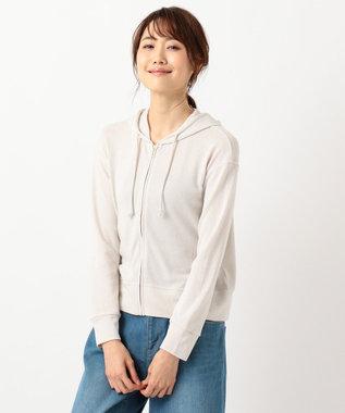 any SiS S 【巾着ポーチ付き&UVケア】ガーゼフライス パーカー ライトグレー系