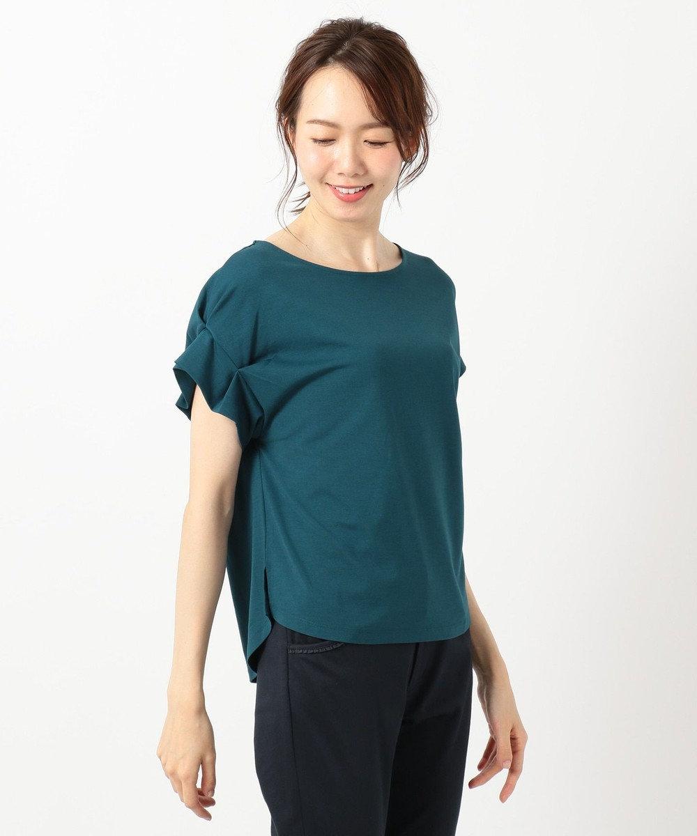 any SiS 【UVケア】レーヨンナイロンポンチ Tシャツ ピーコックグリーン系