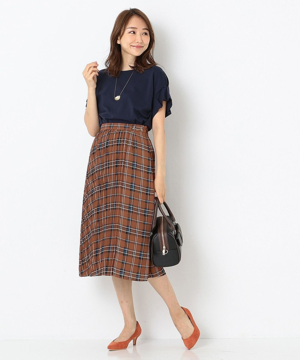 any SiS 【UVケア】レーヨンナイロンポンチ Tシャツ ネイビー系