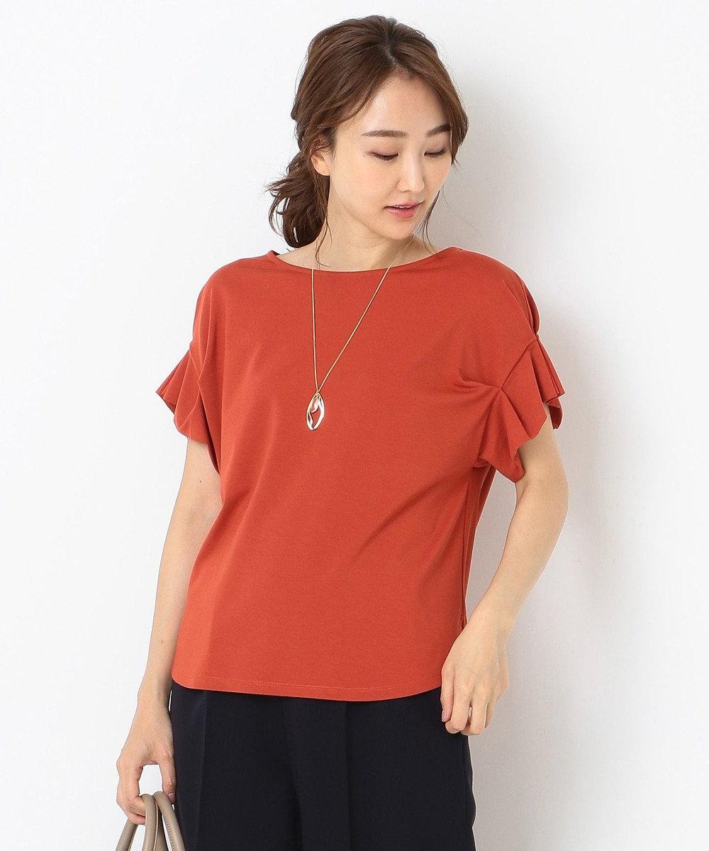 any SiS 【UVケア】レーヨンナイロンポンチ Tシャツ レッド系