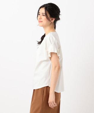 any SiS 【UVケア】レーヨンナイロンポンチ Tシャツ アイボリー系