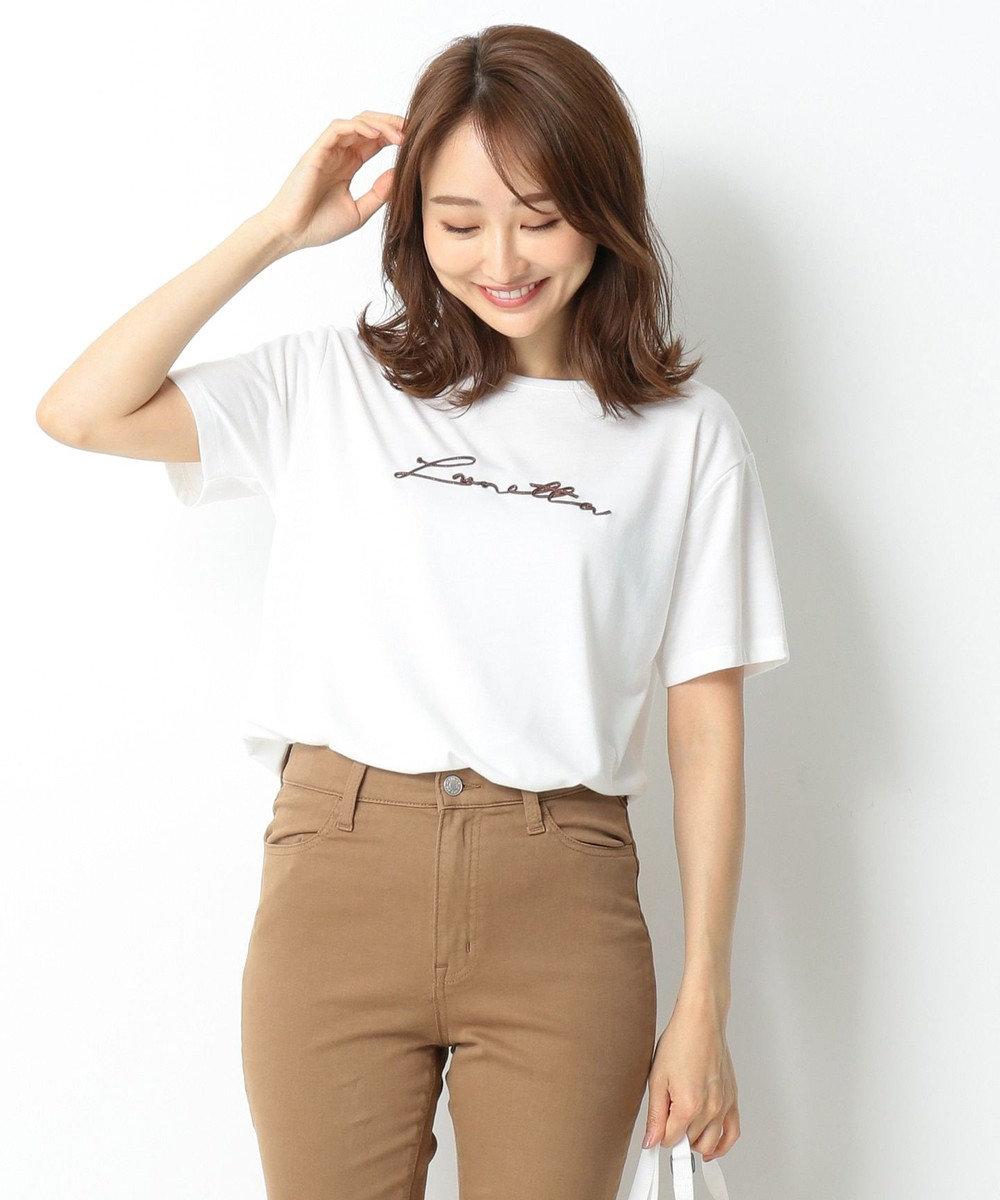 any SiS エンブロイダリーロゴ Tシャツ ホワイト系