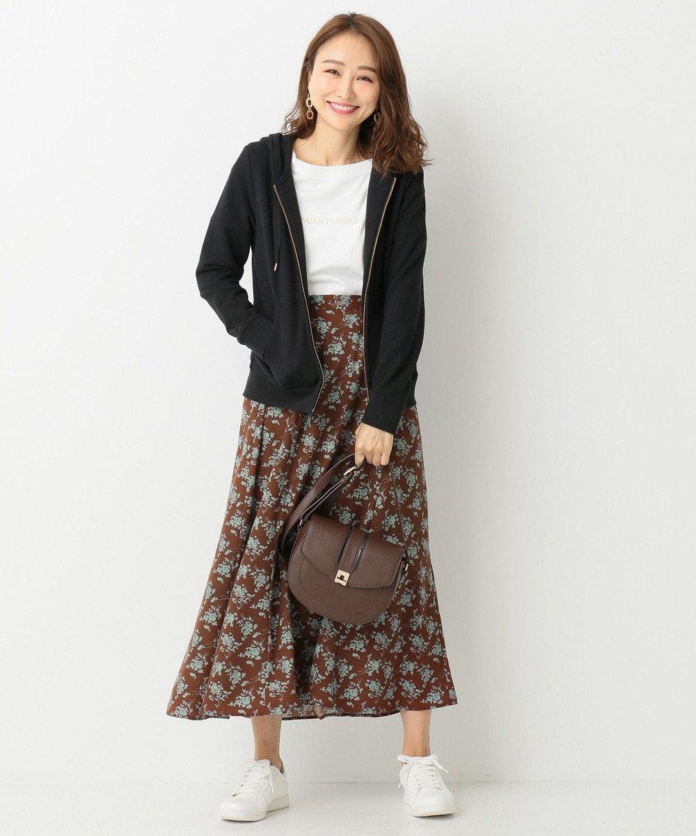 any SiS 【洗える】ロゴ刺繍裏毛 パーカー ブラック系