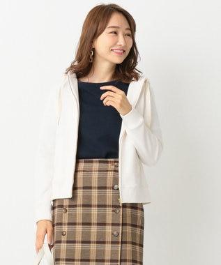 any SiS 【洗える】ロゴ刺繍裏毛 パーカー アイボリー系