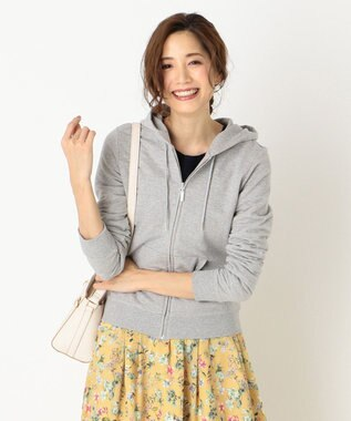 any SiS S 【UVケア・洗える】ベーシック パーカー ライトグレー系