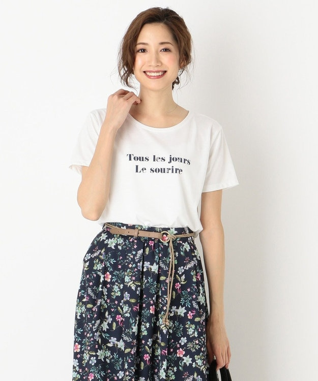 any SiS ロゴプリント Tシャツ