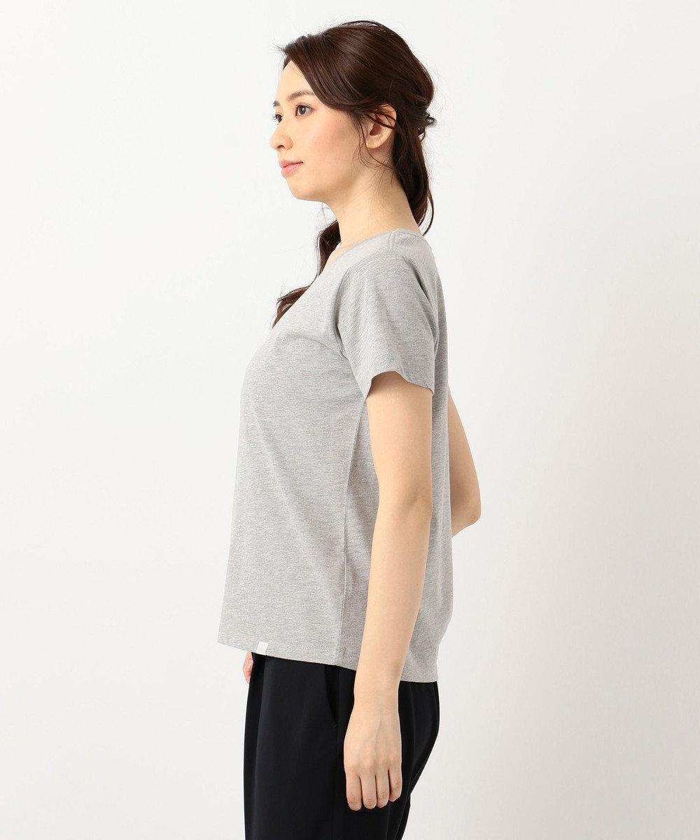 any SiS S L'aube クルーネックロゴ Tシャツ ライトグレー系