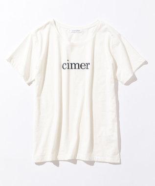 any SiS S L'aube クルーネックロゴ Tシャツ ホワイト系