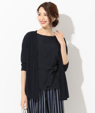 any SiS S 【UVケア】ミニサカリバ カーディガン ネイビー系