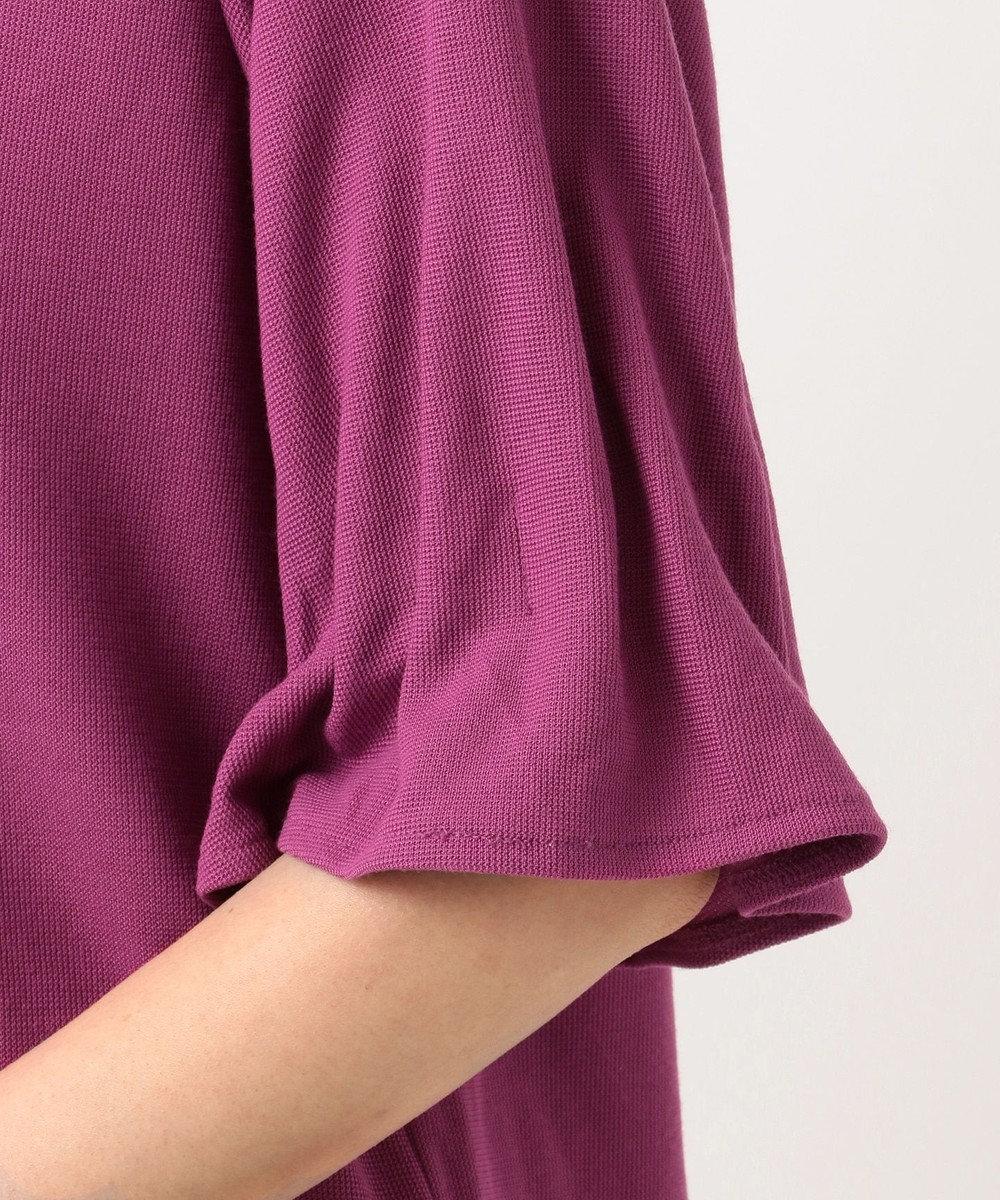 any SiS 【洗える】タックスリーブ プルオーバー Tシャツ ライラック系