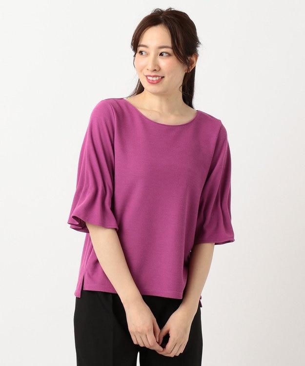 any SiS L 【洗える】タックスリーブ プルオーバー Tシャツ