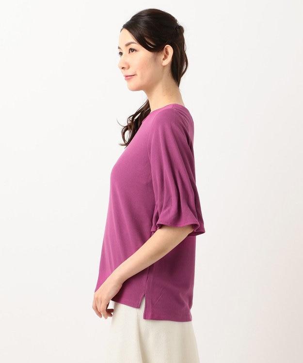 any SiS 【洗える】タックスリーブ プルオーバー Tシャツ