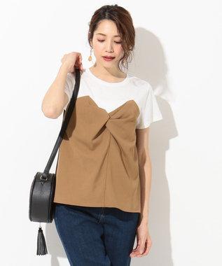 any SiS ビスチェドッキング Tシャツ ホワイト系