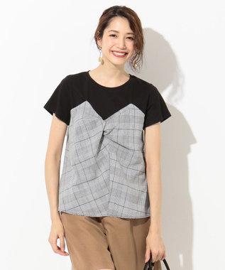 any SiS ビスチェドッキング Tシャツ ブラック系
