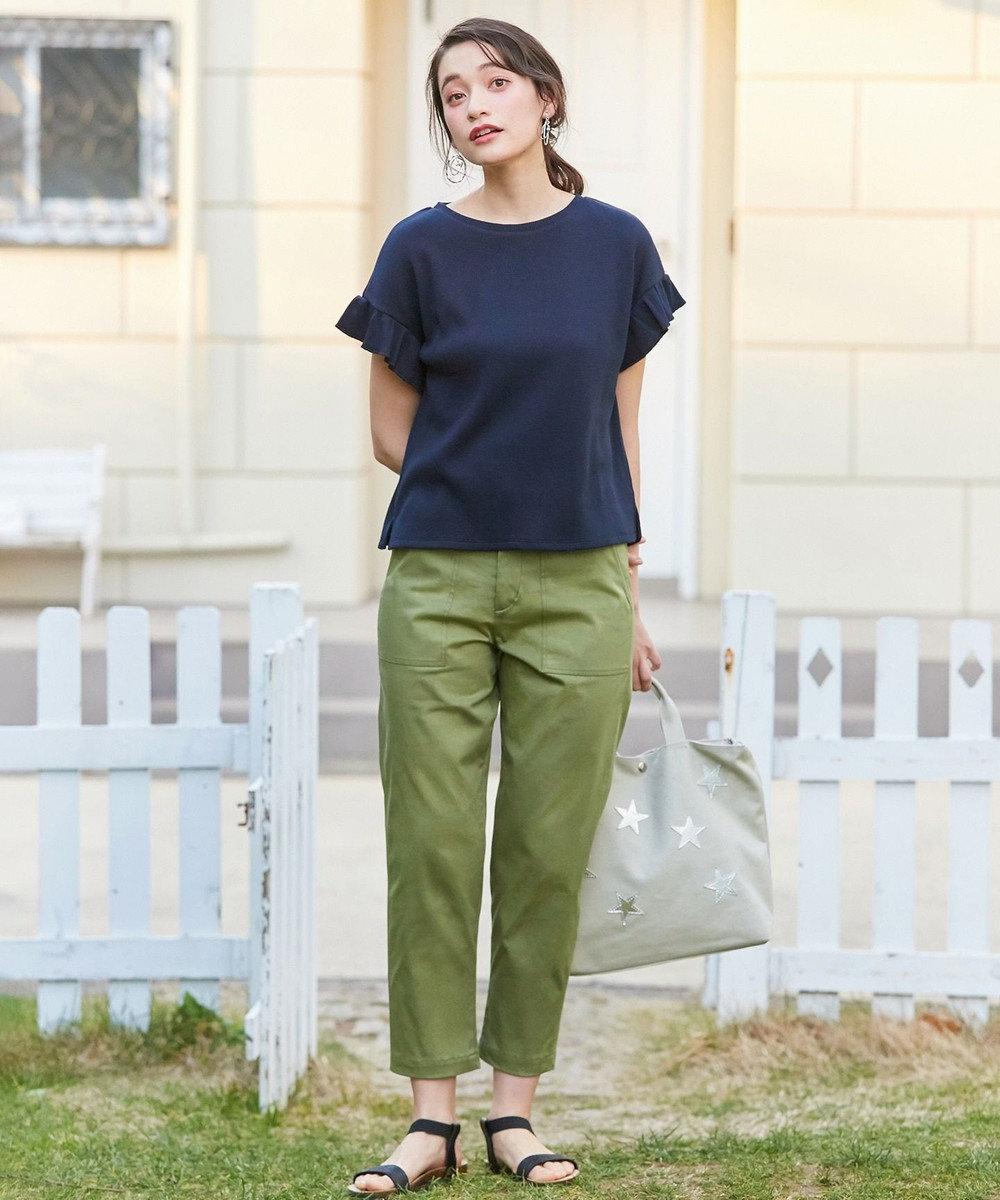 any SiS S L'aube T/Cワッフル Tシャツ ネイビー系