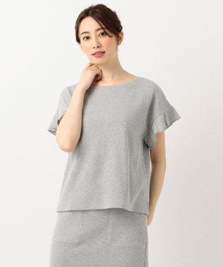 any SiS S L'aube T/Cワッフル Tシャツ ライトグレー系