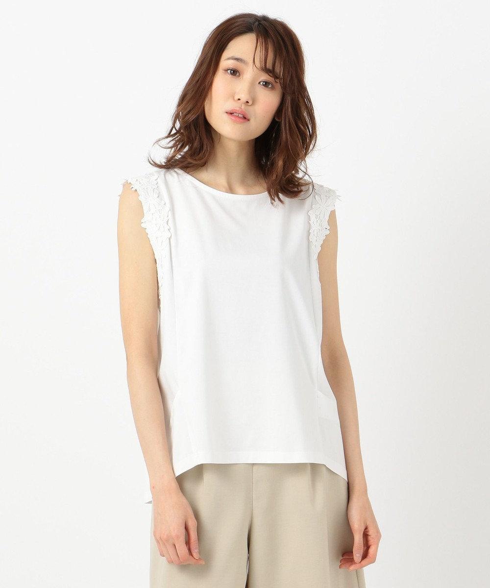 any SiS 【泉里香さん着用】CRISP COOL ノースリーブ トップス ホワイト系