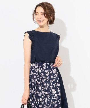 any SiS 【泉里香さん着用】CRISP COOL ノースリーブ トップス ネイビー系