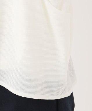 any SiS S 【洗える】ラメシャドーボーダー カーディガン ホワイト系