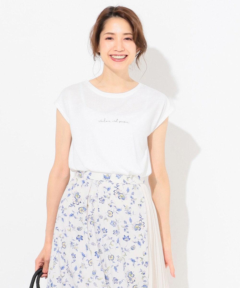 any SiS バックプリントロゴ Tシャツ ホワイト系
