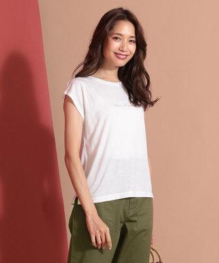 any SiS S バックプリントロゴ Tシャツ ホワイト系1