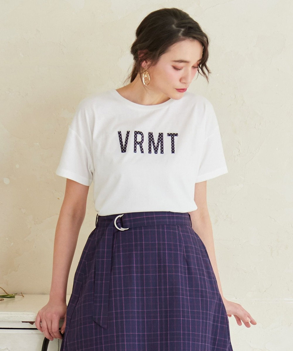 any SiS L 【L'aube】 ロゴ刺繍 Tシャツ ホワイト系