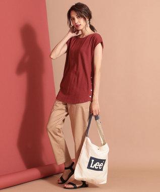 any SiS 【洗える】サイドボタンリブ トップス キャメル系