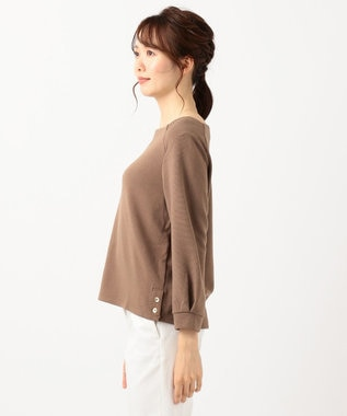 any SiS 【洗える】リップル プルオーバー ライトブラウン