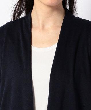 any SiS 【洗える】接結ジャカード カーディガン ネイビー系