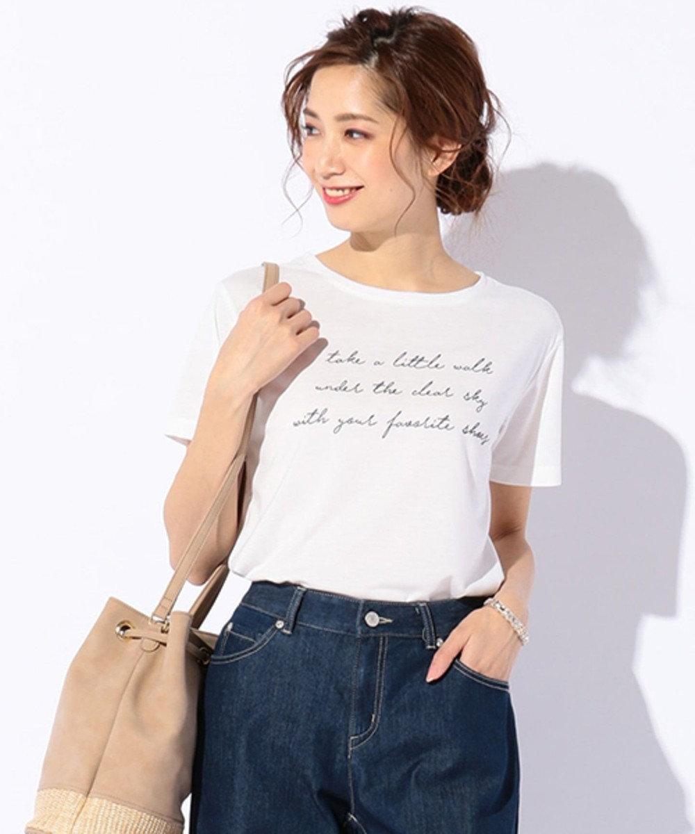 any SiS シャイニーロゴ Tシャツ ホワイト系