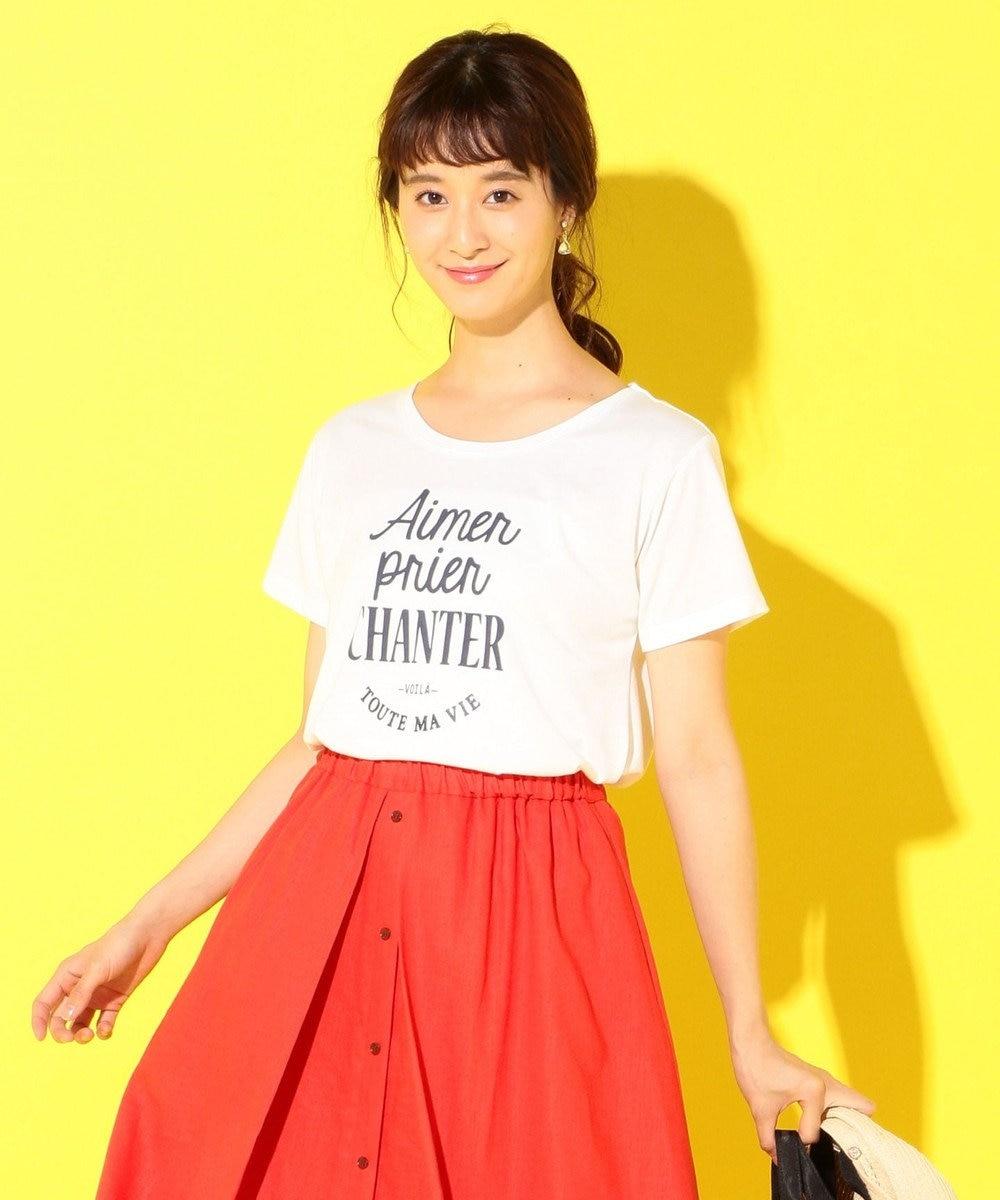any SiS プリントロゴ Tシャツ ホワイト系