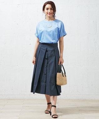 自由区 L 【待望の再入荷】GATHERED SLEEVE Tシャツ スカイブルー系1