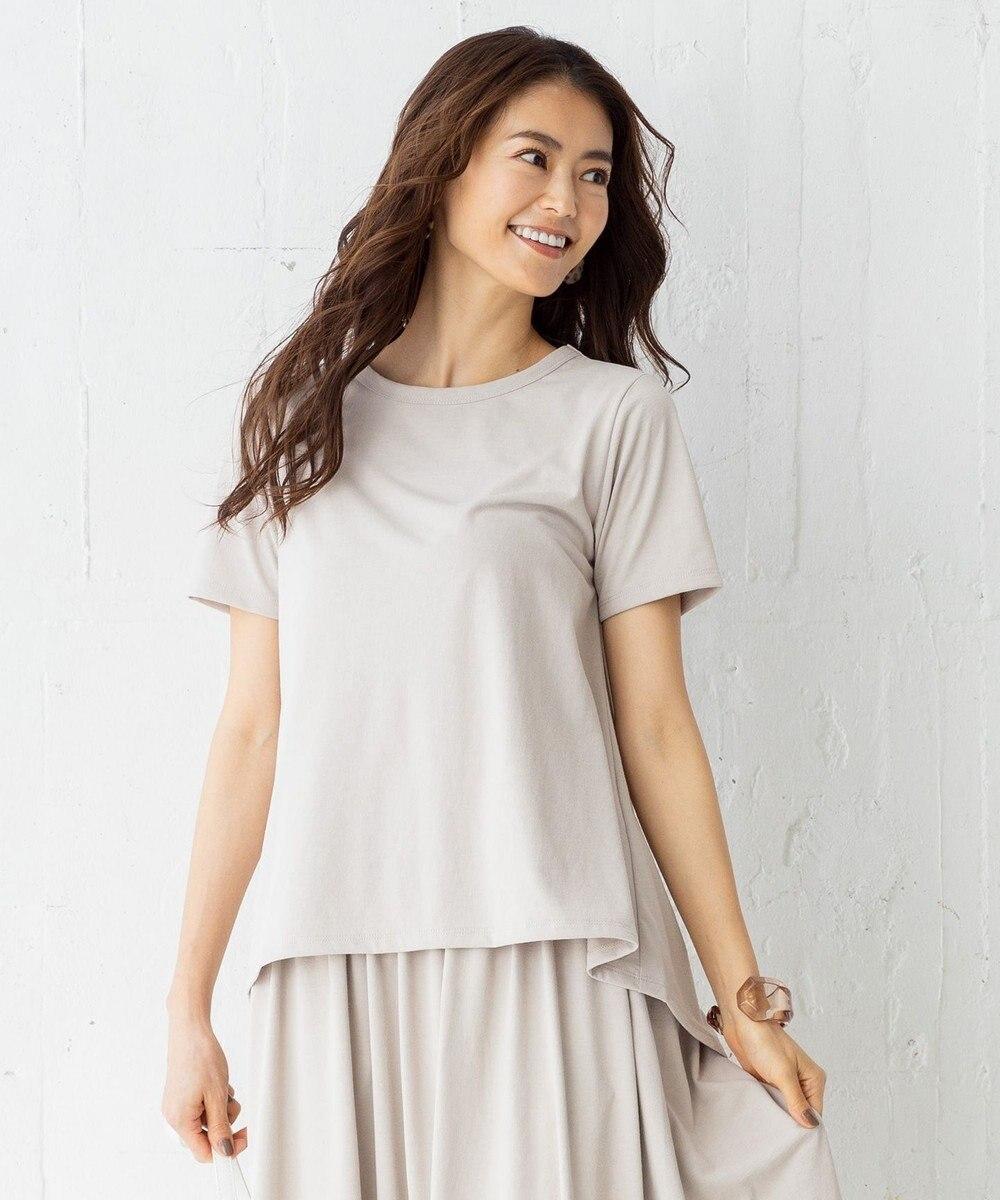 組曲 【吸水速乾・UVカット】ドライハイゲージ天竺 Tシャツ ライトグレー系