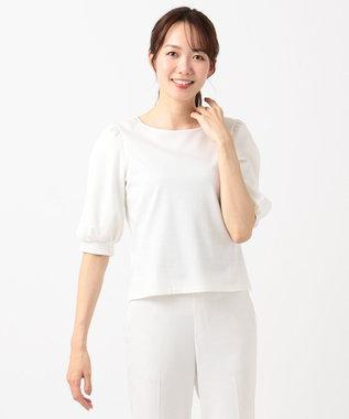 組曲 L 【人気商品の新作入荷!】シルケットポンチ 袖スリットカットソー ホワイト系