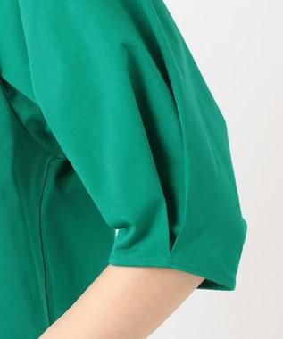 組曲 L 【洗える】ライクアウーブン 7分袖カットソー グリーン系