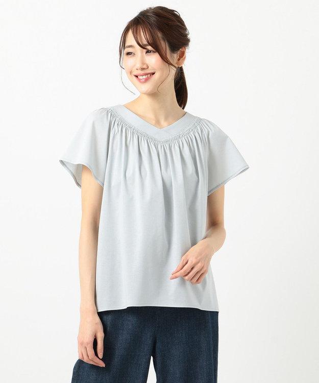 組曲 S 【洗える】ライクアウーブン シャーリングカットソー