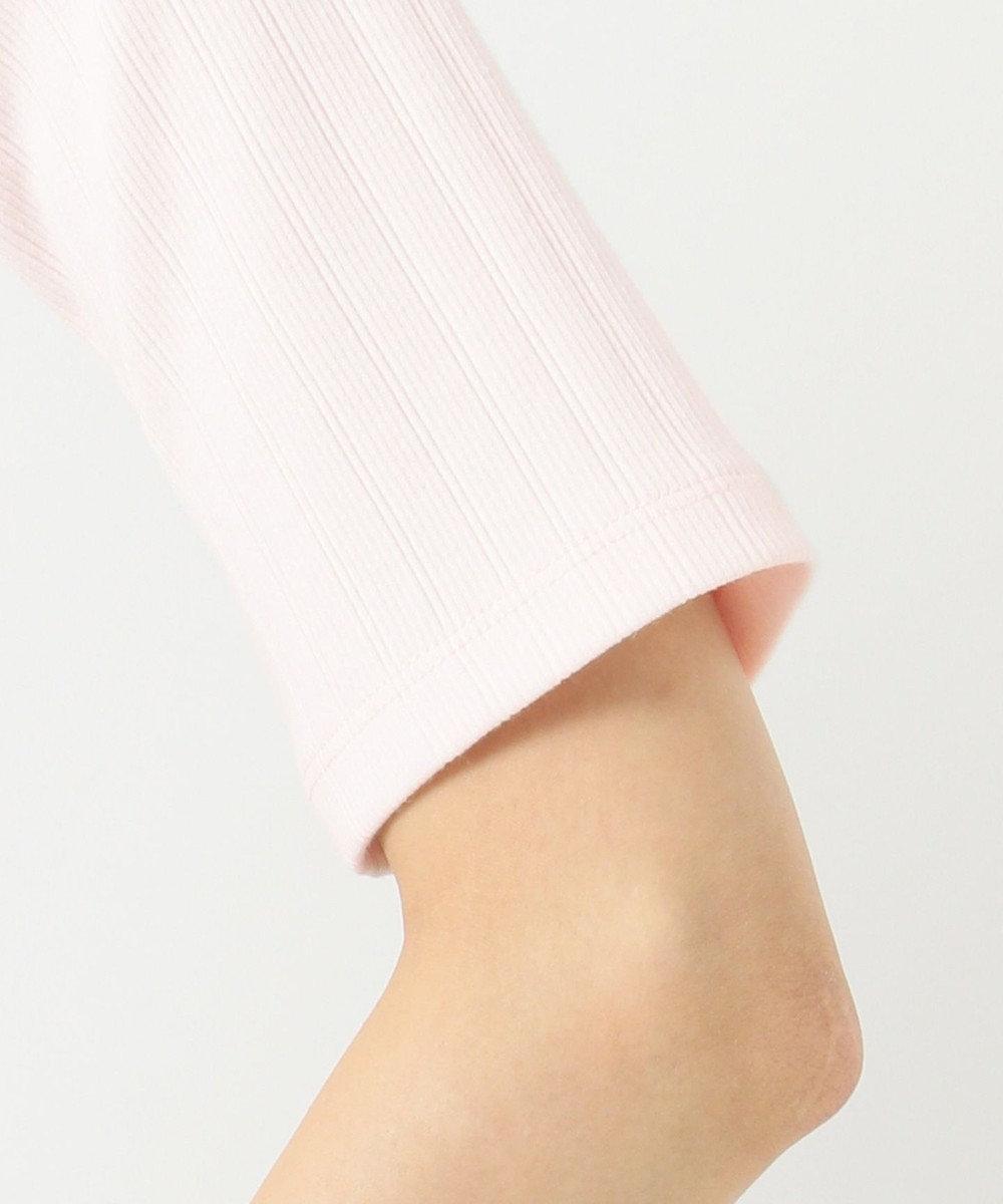 組曲 S 【洗える】ランダムテレコボーダー 5分袖カットソー ピンク系