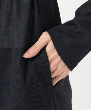 組曲 【接触冷感・UVケア】ライトカーデ ロング ネイビー系
