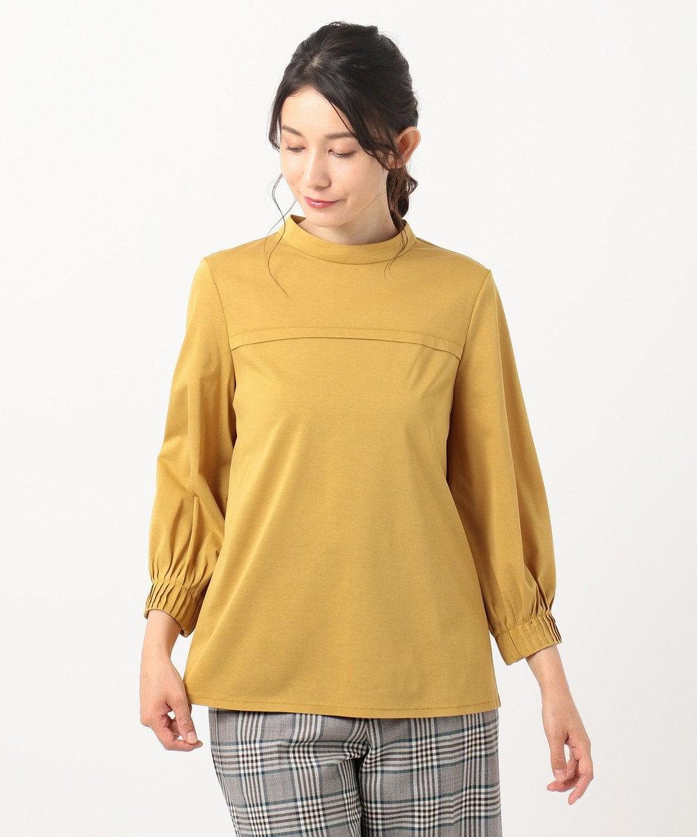 組曲 L 【洗える】ライクアウーヴン ハイネックカットソー イエロー系