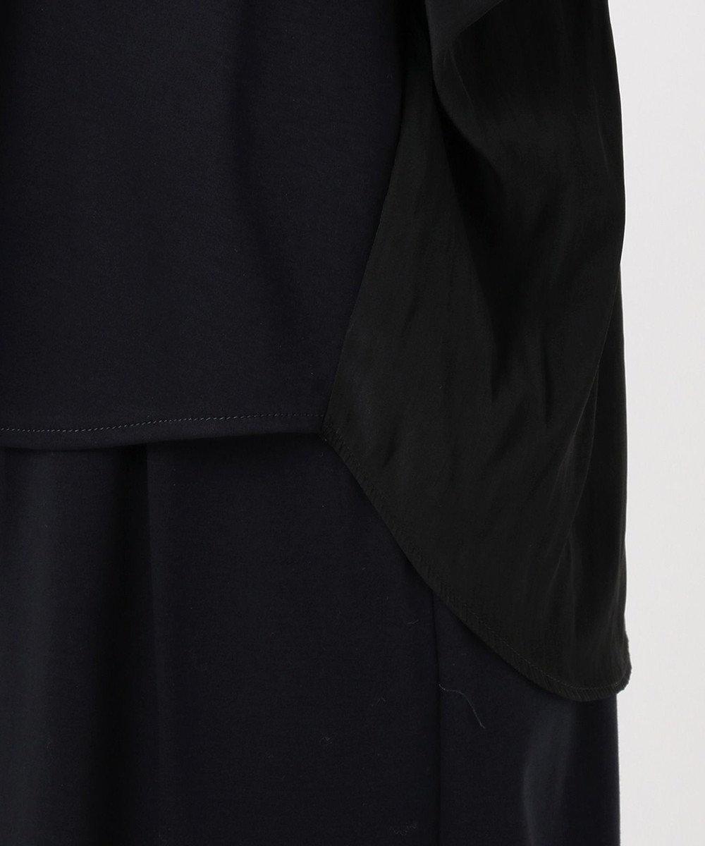 組曲 L 【洗える】コンパクトコットンスムース ドルマンスリーブ カットソー ネイビー系